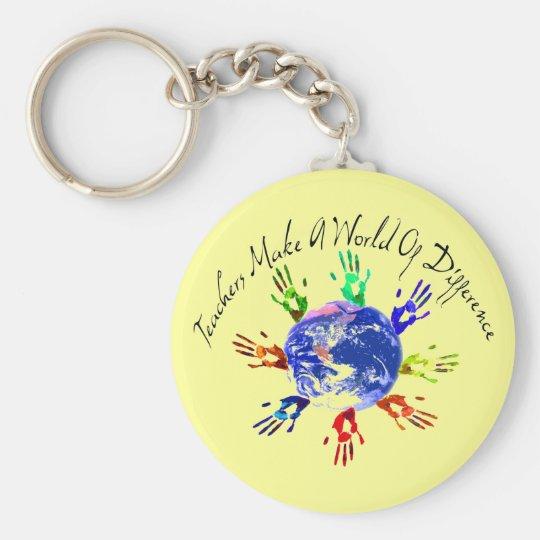Teachers Make a World Keychain