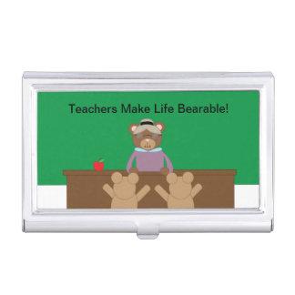 Teachers Make Life Bearable Business Card Case
