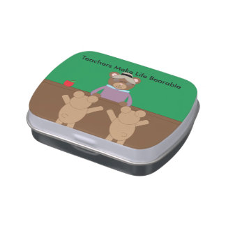 Teachers Make Life Bearable Personalize Candy Tin