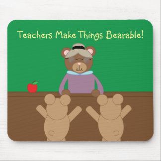 Teachers Make Life Bearable Personalize Mouse Pad