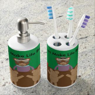 Teachers Make Life Bearable Soap Dispenser & Toothbrush Holder