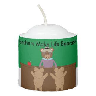 Teachers Make Life Bearable Votive Candle