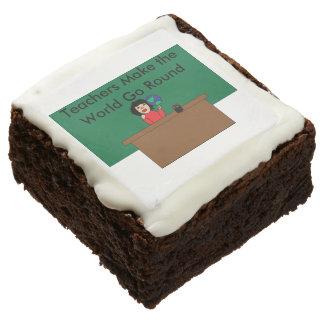 Teachers Make the World Go Round Brownie