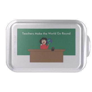 Teachers Make the World Go Round Cake Pan