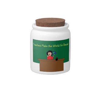 Teachers Make the World Go Round Candy Jar