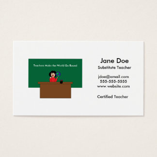 Teachers Make the World Go Round Custom Business Card