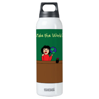 Teachers Make the World Go Round Liberty Bottle 16 Oz Insulated SIGG Thermos Water Bottle