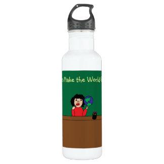 Teachers Make the World Go Round Water Bottle