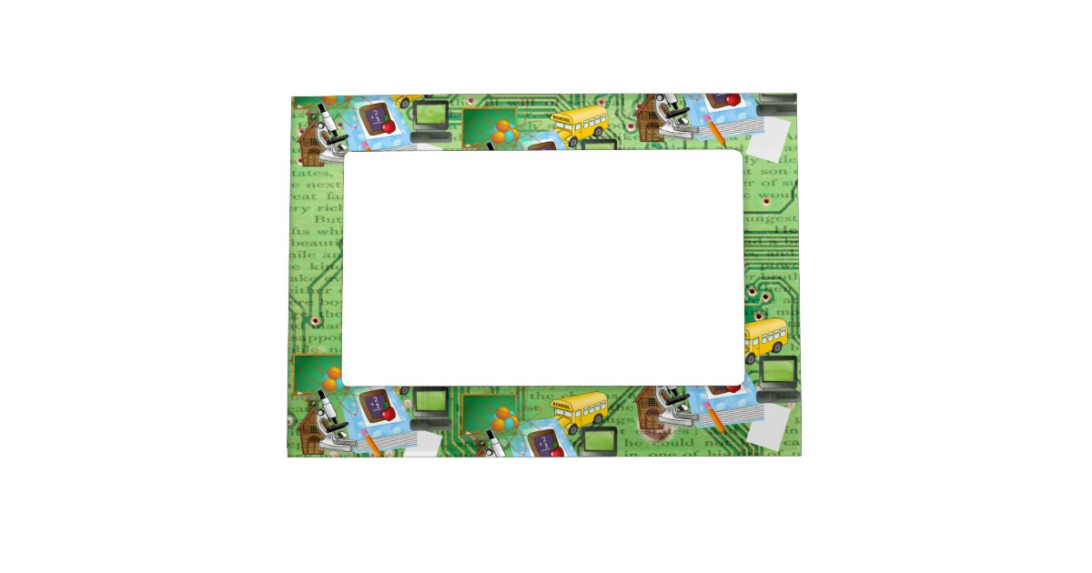 Teachers' Math & Science Magnetic Frame | Zazzle.com