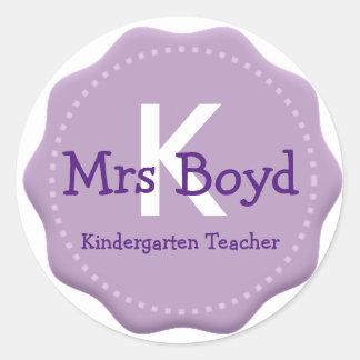 Teachers Monogram Envelope Seals & Stickers