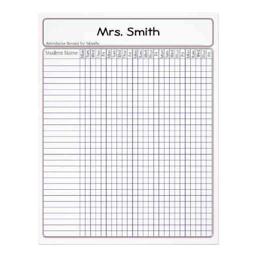 Pin teacher attendance record 2012 2013 on pinterest