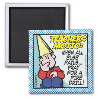 Teachers Motto 2 Inch Square Magnet