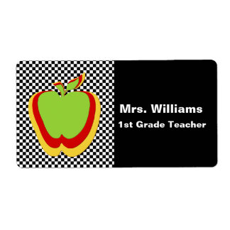 Teacher's Name Tags Shipping Label