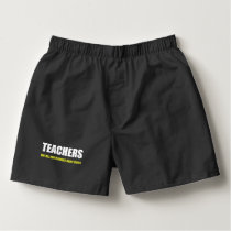 Teachers Not All Superheroes Wear Capes Boxers