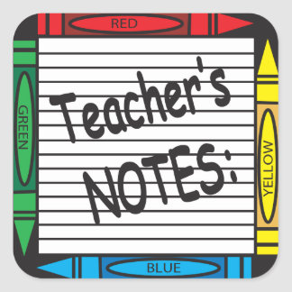 Teacher's Note Sticker