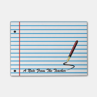 Teacher's Notebook Paper Post-It Note Pad