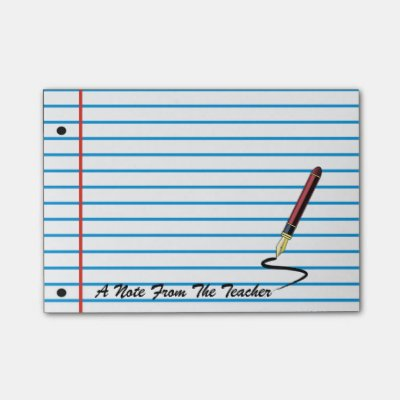 Customizable Lined Notebook Paper Sticky Notes | Zazzle