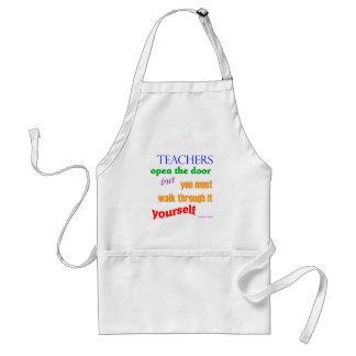 Teachers open the door... adult apron
