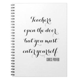 Teachers open the door notebook