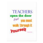 Teachers open the door... postcard