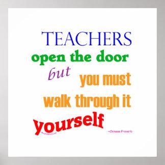 Teachers open the door... poster