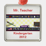 TEACHER'S Personalized Christmas Ornament Template