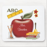 """Teacher&#39;s Personalized Mouse Pad<br><div class=""""desc"""">Put your favorite teacher&#39;s name into the middle of our apple and give as a great teacher&#39;s gift.</div>"""