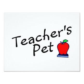 Teachers Pet Apple 4.25x5.5 Paper Invitation Card