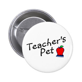 Teachers Pet Apple Pinback Button