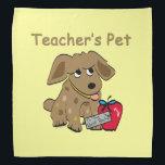 """Teacher&#39;s Pet Bandana<br><div class=""""desc"""">Cute back to school gifts and keepsakes for the Teacher&#39;s pet.</div>"""