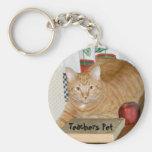 Teacher's Pet Basic Round Button Keychain