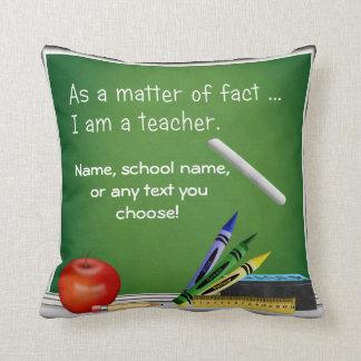 Teacher's Pillow Custom Text