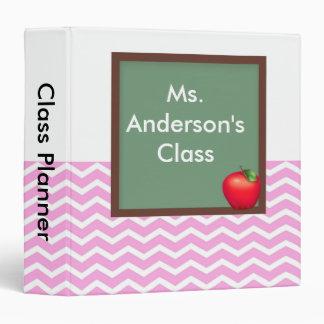Teachers Pink Chevron Chalkboard Binder