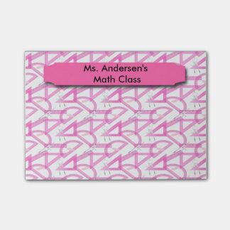 Teachers Pink Math Tools Post-it® Notes