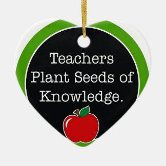 teachers plant seeds ceramic ornament