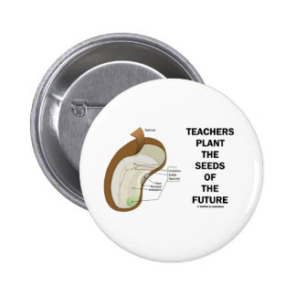 Teachers Plant The Seeds Of The Future (Bean Seed) Buttons