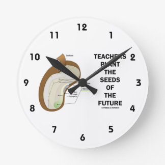 Teachers Plant The Seeds Of The Future (Bean Seed) Round Clock