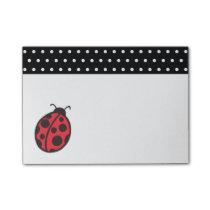 Teacher's Polka Dot Ladybug Post It Notes Gift