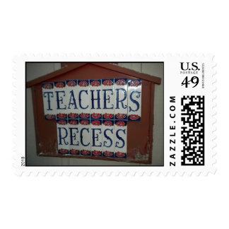 Teachers Recess Postage Stamp
