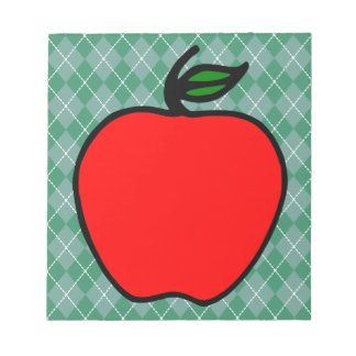 Teacher's Red Apple School Notepad Gift