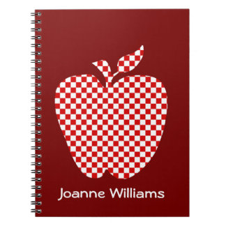 Teacher's Red Checked Apple Notebook