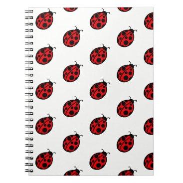 Beach Themed Teacher's Red Ladybug  School Notebook Gift