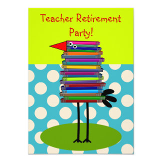 Teachers Retirement Party Invitations Book Bird
