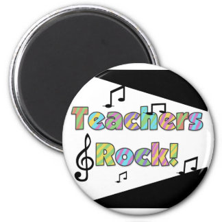 Teachers Rock 2 Inch Round Magnet