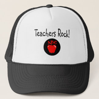 Teachers Rock Apple 2 Trucker Hat