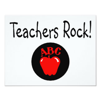 Teachers Rock Apple Card