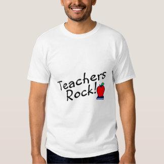 Teachers Rock Apple Tee Shirt