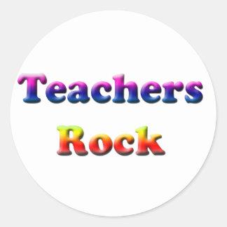 TEACHERS ROCK CLASSIC ROUND STICKER
