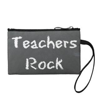 Teachers Rock Coin Purse : Chalkboard Quote Design