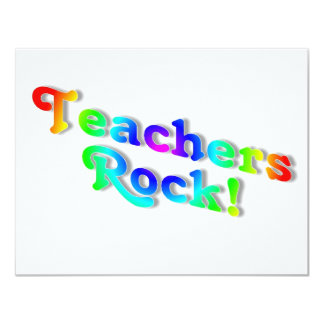 Teachers Rock Color Card
